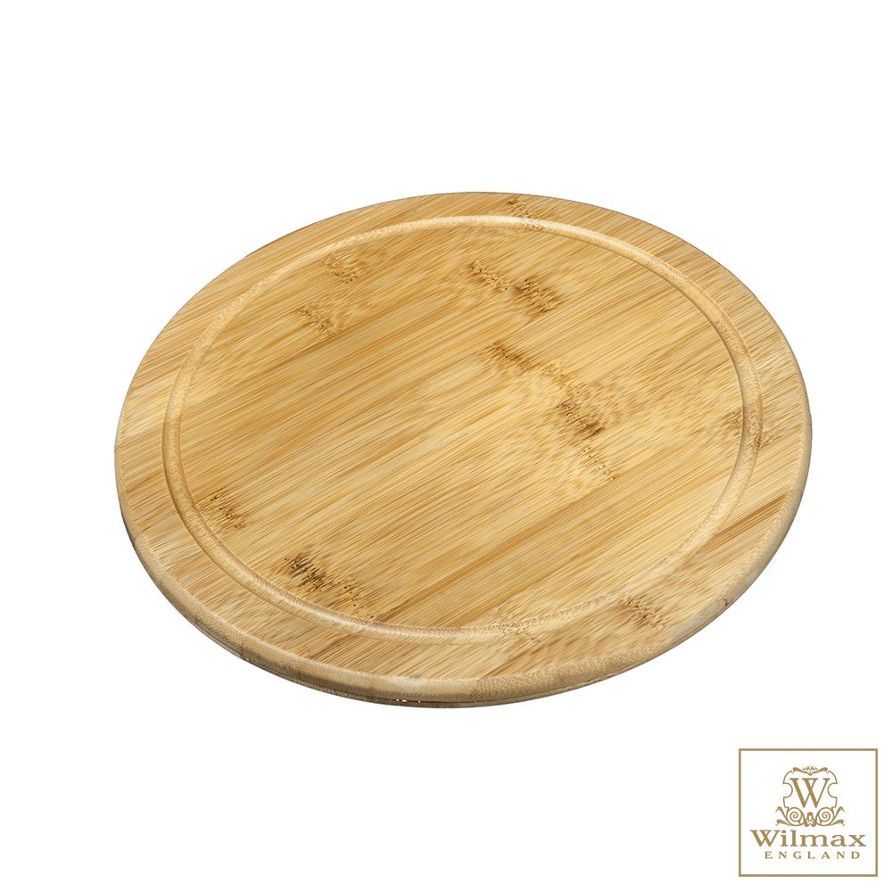 英國 WILMAX 竹製圓形餐盤/輕食盤(25.5CM)