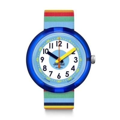 FlikFlak 兒童錶 STRIPYBOW 彩虹條紋-34.75mm