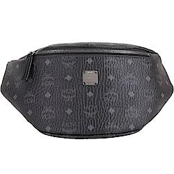 MCM Stark 中款 品牌塗層帆布胸背/腰包(黑色)
