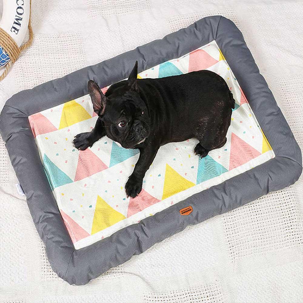 夏季冰絲寵物涼墊 寵物窩 寵物床 狗窩 貓窩 透氣舒適
