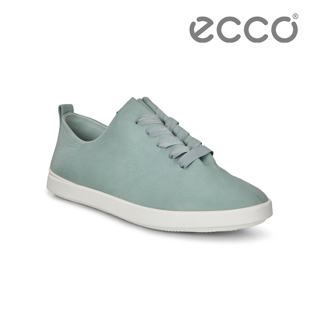 ECCO LEISURE 超柔軟牛皮緞帶休閒鞋 女-藍綠 product image 1