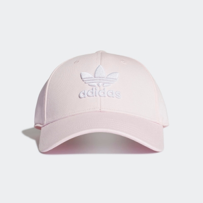 ADIDAS 休閒 運動 老帽 棒球帽 粉 FM1325 TREFOIL BASEBALL CAP