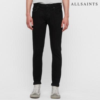 ALLSAINTS REX 俐落線條水洗棉質修身直筒牛仔褲-烏黑