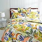 Cozy inn 天堂-綠 300織精梳棉四件式兩用被床包組(雙人)