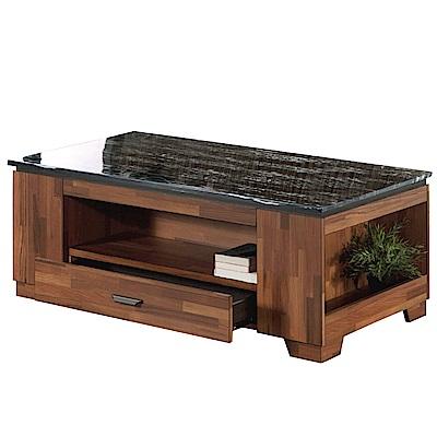 品家居 葛恩4.3尺石面大茶几(含椅凳2入)-130x70x53cm免組