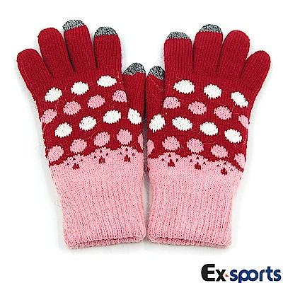 Ex-sports 智慧觸控 多功能手套(女用款-圓點)