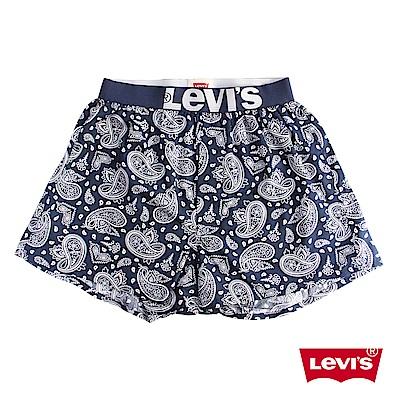 Levis 四角褲Boxer 寬鬆舒適 藍色花紋