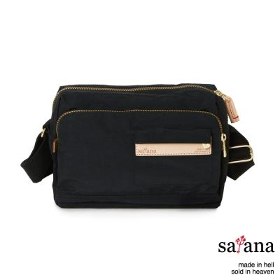 satana - 簡約斜背包 - 黑色
