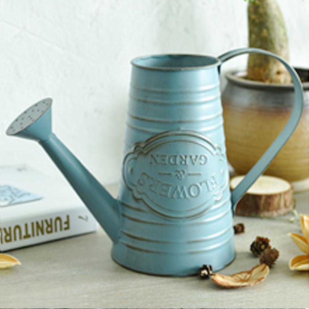 【Meric Garden】歐式仿舊復古雜貨風鐵藝裝飾花器(花灑澆水罐)