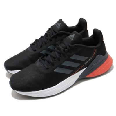 adidas 慢跑鞋 Response SR 運動休閒 男鞋 愛迪達 路跑 緩震 透氣 球鞋穿搭 黑 紅 FX3629