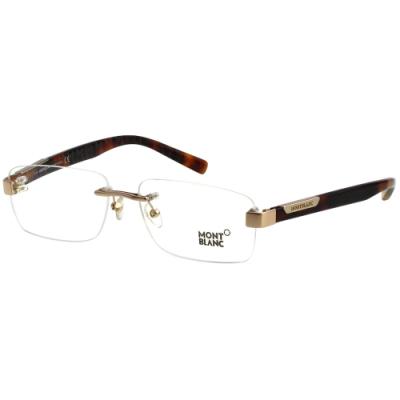 萬寶龍 MONTBLANC-光學眼鏡(金色)MB498U