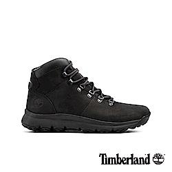 Timberland 男款黑色防水運動登山中筒靴 A1WND