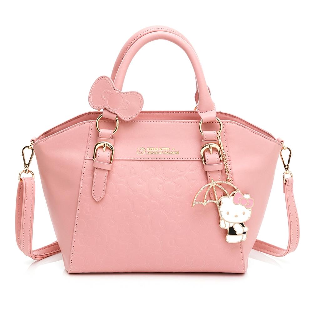 Hello Kitty聯名- 手提包附長背袋 FRIENDLY系列-粉色