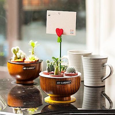 My Garden療癒植物容器 多肉精靈系列/盆栽旋轉木碗/1吋*4孔-DY605
