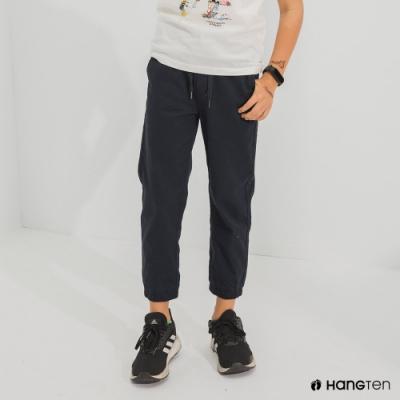 Hang Ten-男童-JOGGER FIT九分束口褲-藍色