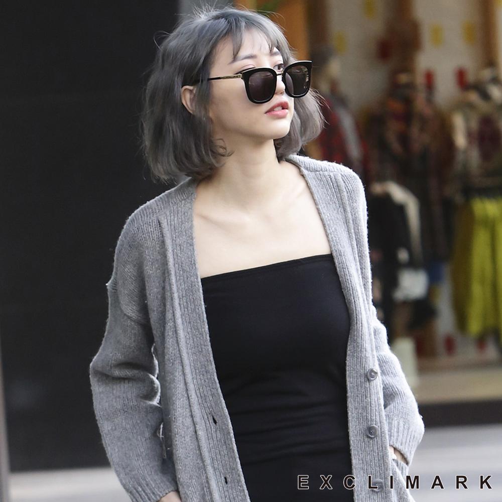 EXCLIMARK 平口保暖絨暖宮長版背心-黑色