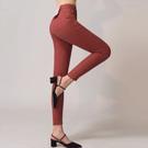 AIR SPACE 彈力顯瘦多色窄管褲(磚紅)