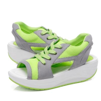 韓國KW美鞋館-人體美學系列馬卡龍健走鞋 螢光綠
