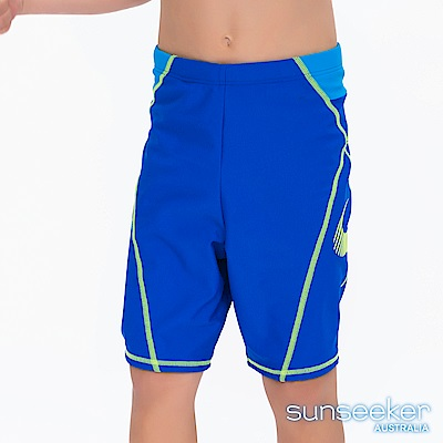 澳洲Sunseeker泳裝抗UV防曬七分膝上運動風泳褲-小男童寶藍
