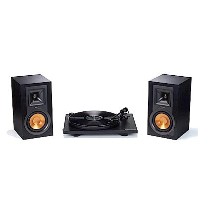 【美國Klipsch】無線主動式書架喇叭 x 黑膠唱盤組合R-15PM+Primary