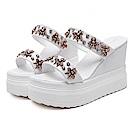 KEITH-WILL時尚鞋館 (現貨) 熱銷指定雙帶厚底涼鞋-白色