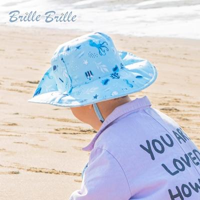 【Brille Brille】兒童UPF50+雙面防曬帽 - 海底世界