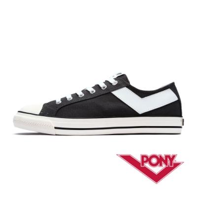 【PONY】Shooter系列百搭復古帆布鞋休閒鞋 男鞋-鐵灰