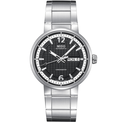 MIDO Great Wall 天文台認證長城系列機械腕錶-灰黑/39mm