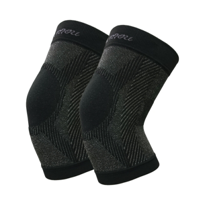 王鍺能量銀纖黑竹炭3D神奇活力護膝 2件組(鍺能量+遠紅外線) 加贈日本彈力保暖機能衣