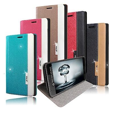 VXTRA HTC U12+ / U12 Plus 韓系潮流 磁力側翻皮套
