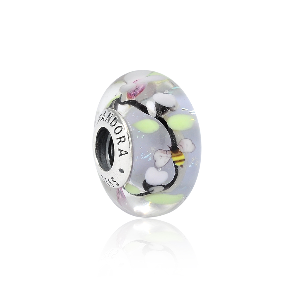 Pandora 潘朵拉 魔法花園琉璃珠 純銀墜飾 串珠