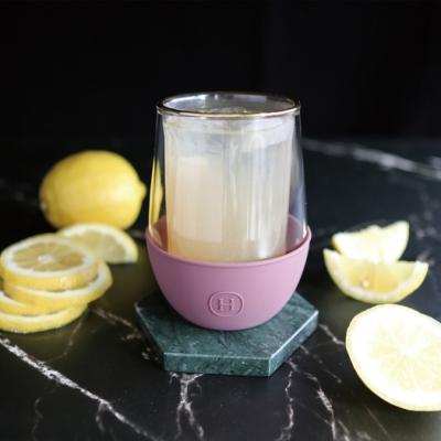 美國HYDY_雙層玻璃蛋型杯_乾燥玫瑰-經典直條紋 240ml