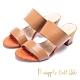 Pineapple Outfitter-寬版二字帶高跟拖鞋-棕色 product thumbnail 1