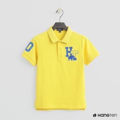 Hang Ten-童裝-logo刺繡POLO杉-黃