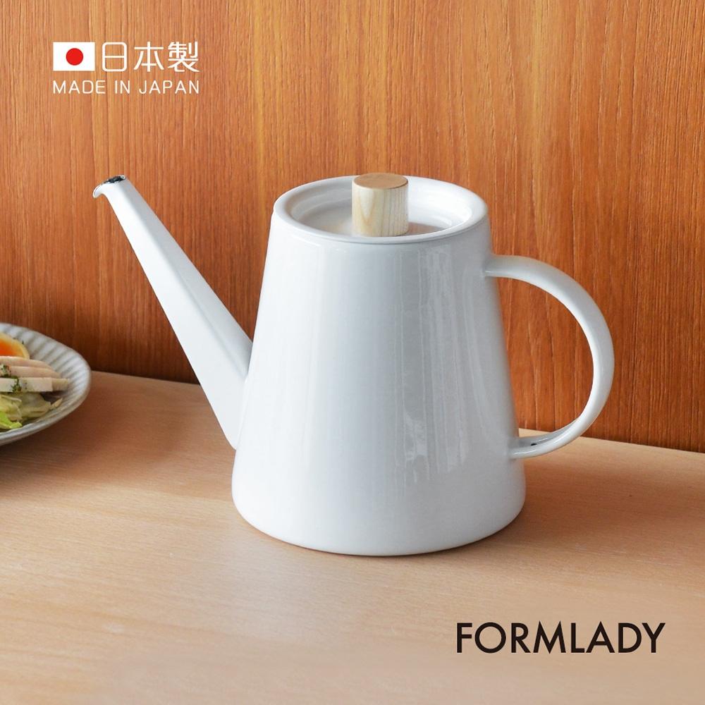 日本FORMLADY 小泉誠 kaico日製琺瑯細口手沖壺-1.3L (IH爐可使用 )