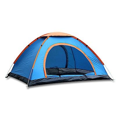 PUSH!戶外休閒用品1秒速開露營2-3人帳篷免搭拋帳P120