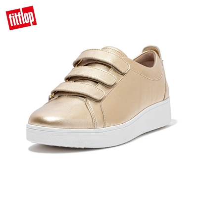 【FitFlop】RALLY QUICK STICK FASTENING LEATHER SNEAKERS 運動風休閒鞋-女(金鉑色)