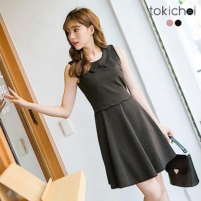 東京著衣 優雅花邊腰身洋裝-S.M(共二色)