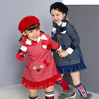 WHY AND 1/2 普普熊棉質洋裝 11Y~14Y以上 多色可選