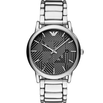 Emporio Armani 幾何美學時尚腕錶(AR11134)黑/43mm
