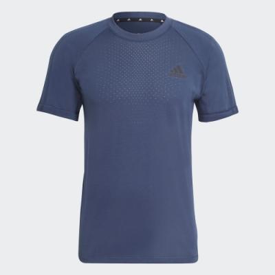 ADIDAS 上衣 短袖上衣 運動 慢跑 訓練 男款 藍 GM2086 AEROKNIT