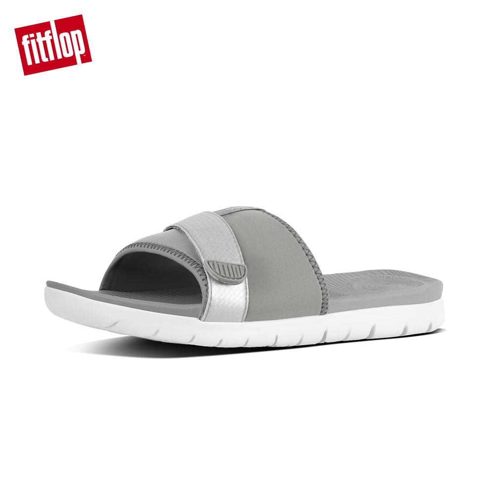 FitFlop NEOFLEX SLIDE SANDALS-淺灰/銀色