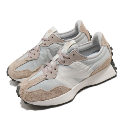 New Balance 休閒鞋 327 復古流行 運動 女鞋 紐巴倫 舒適 簡約 大N 穿搭 麂皮 灰 粉 WS327SFAB