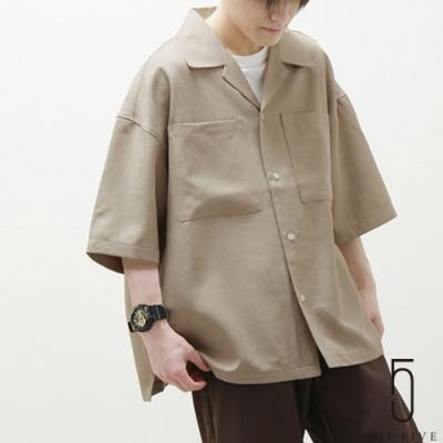 ZIP日本男裝 仿亞麻短袖開領襯衫 (6色)