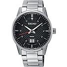 SEIKO精工 CS 城市系列大日期視窗手錶(SUR269P1)-黑x銀/40mm