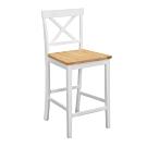 Bernice-朵恩白色實木吧台椅/高腳椅/休閒椅(二入組合)-41x46x95cm