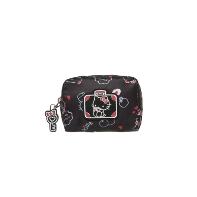 【Hello Kitty】凱蒂漫旅-零錢包-黑 KT01T09BK