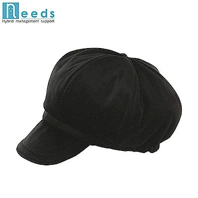 日本NEEDS吸濕發熱護耳帽#74584短帽簷貝雷帽HOT αあったかキャスケット平頂帽軟帽沿貝蕾帽保暖帽防寒帽