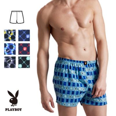 PLAYBOY-純棉印花平口褲-款式隨機出貨