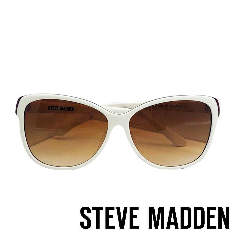 STEVE MADDEN-MOTTAR 品牌時尚抗UV太陽眼鏡-白色